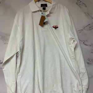 NWT Vintage Atlanta Hawks Long Sleeve Polo Size L